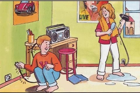 La casa è fonte di pericoli per le casalinghe tra prodotti, scale e prese elettriche