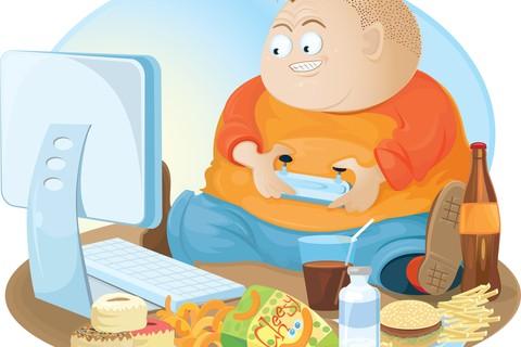 I bimbi soprappeso troppo spesso seguono gli stili di vita dei genitori