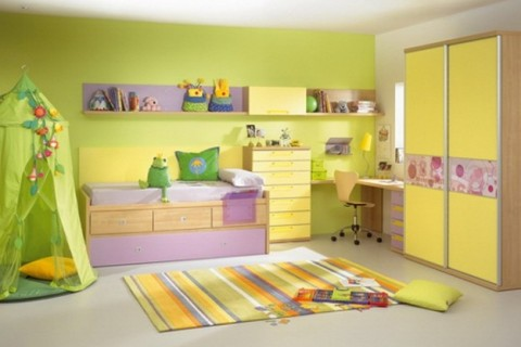 la cromoterapia entra nella stanza dei bambini:il blu concilia il ... - Colori Camera Da Letto Cromoterapia