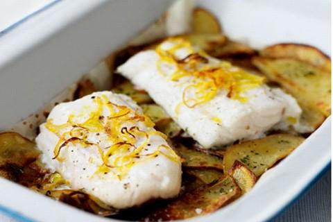 Filetti di merluzzo con patate al forno