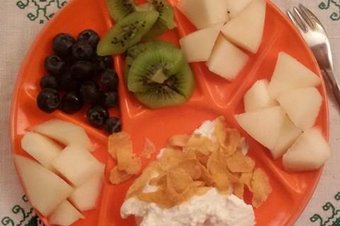 Kiwi mirtilli e melone giallo
