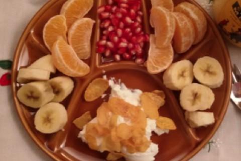 Banana mandarancio e melograno