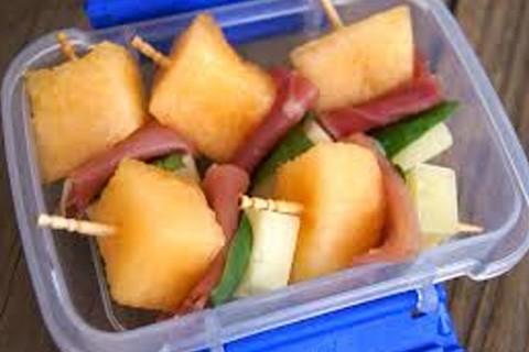 Melone e prosciutto per snack
