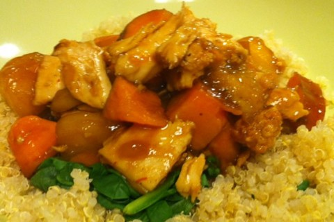 Pollo ratatouille con quinoa