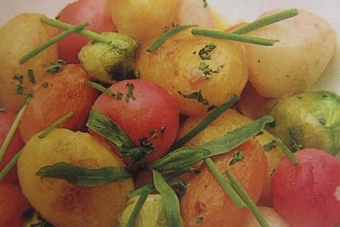 Coriandoli di ortaggi e patate