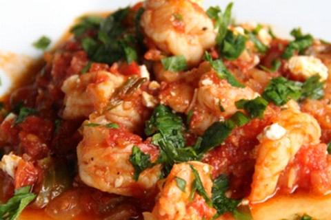 Gamberi in salsa e prezzemolo