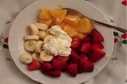 Arance, fragole e banane