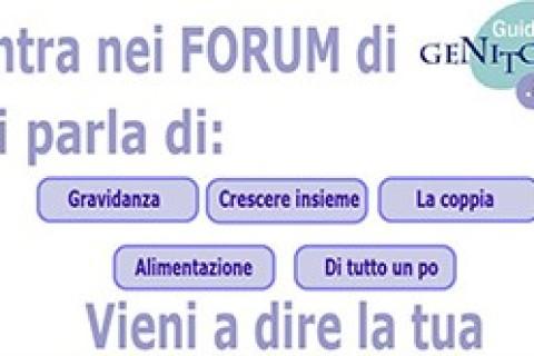 Entra nei Forum di GuidaGenitori.it vieni a dire la tua