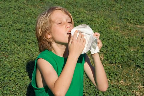 primavera bambino allergie polline