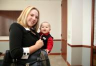 27 maggio, bimbi in ufficio con mamma e papà