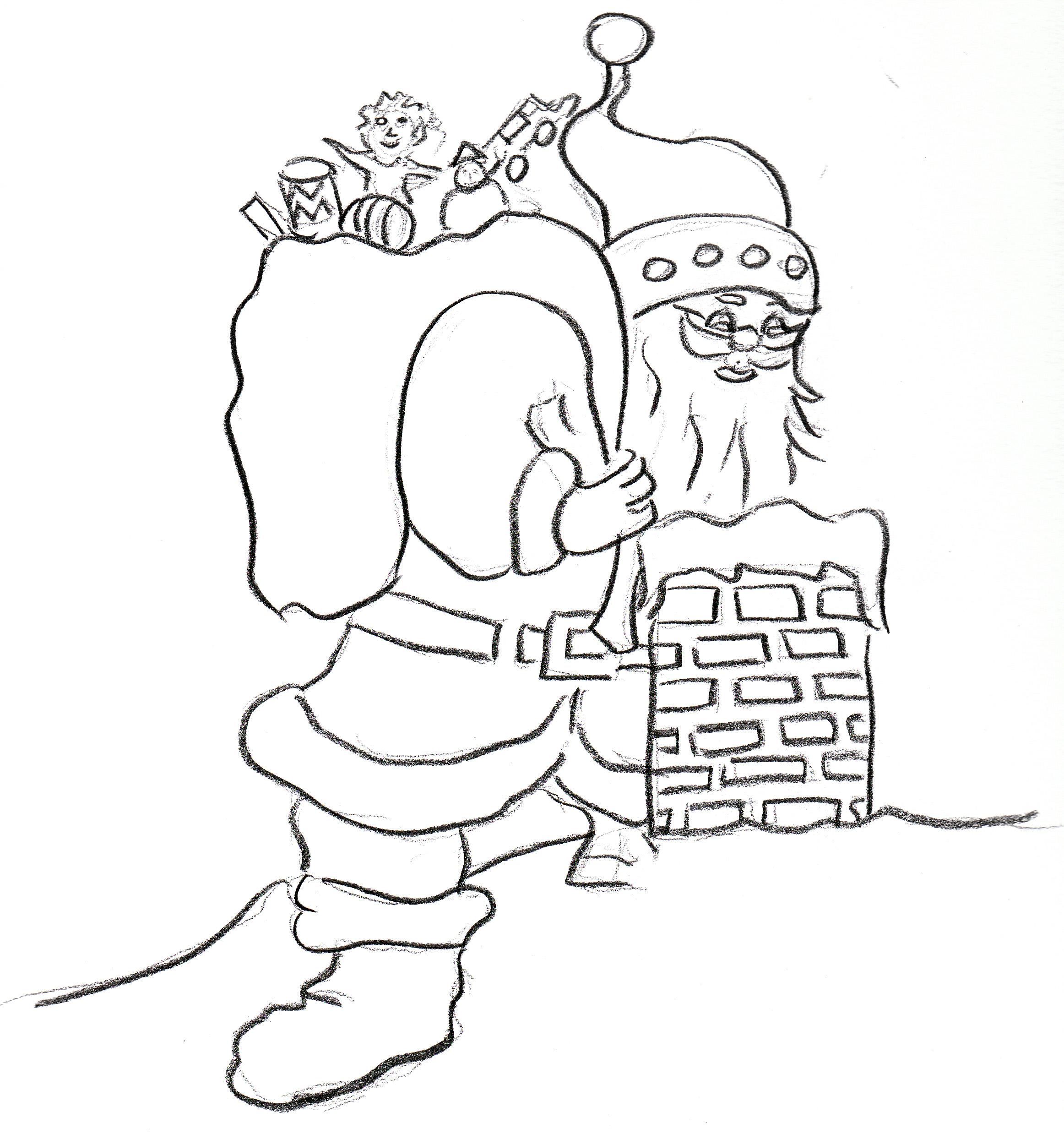 La lista dei desideri la lettera a babbo natale e disegni - Babbo natale da colorare fogli da colorare ...