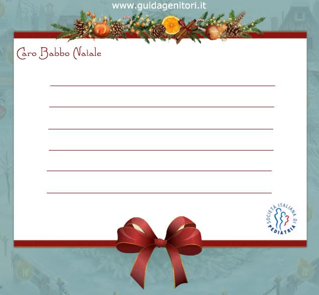 La lista dei desideri la lettera a babbo natale e disegni for Angeli da stampare e colorare