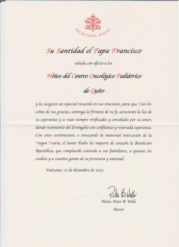 lettera benedizione Papa Francesco