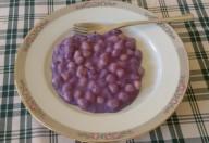 Gnocchi di patate al cavolo viola