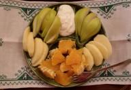 Arance, mele e pere con yogurt