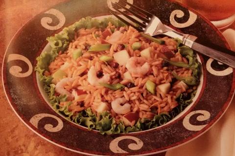 insalata di riso e gamberi