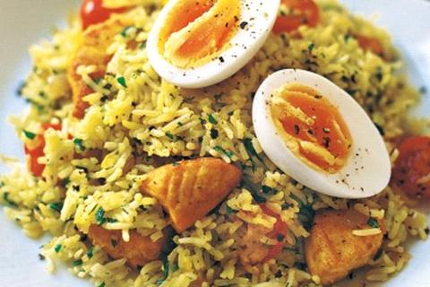riso salmone e uovo