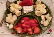 Banana pera e fragole