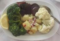 Insalata di vegetali a vapore