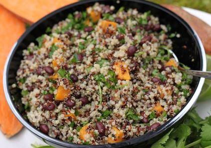quinoa e fagioli