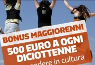 Bonus € 500 per i diciottenni